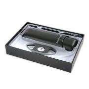Комплект нож и калъф за пури Silver Flame