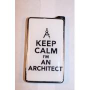 Метална запалка с огледална повърхност Keep Calm I'm An Architect