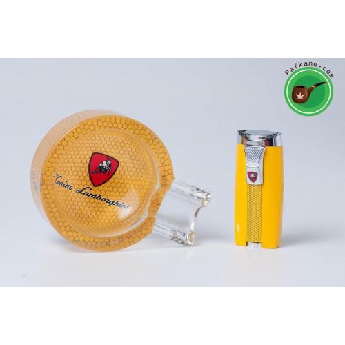 Комплект за пури запалка и пепелник Lamborghini