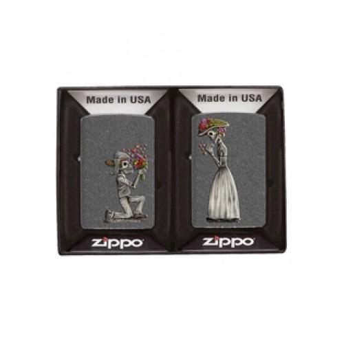Комплект запалки Zippo Iron Stone Couple
