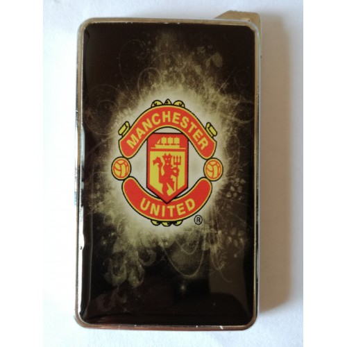 Метална запалка с огледална повърхност Manchester United