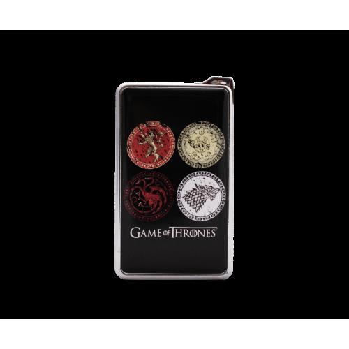 Метална запалка с огледална повърхност Game of thrones